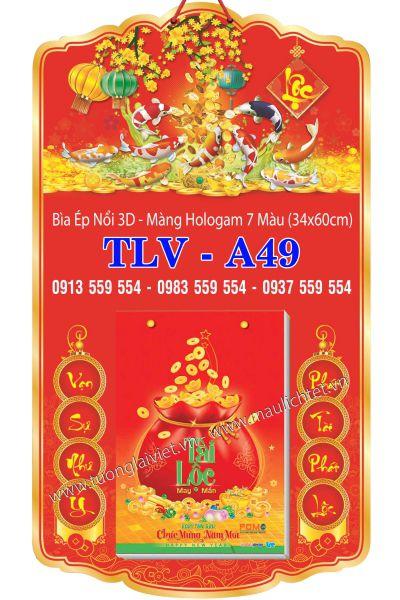 Bìa Lịch Đại 34x60 Phúc Lộc Thọ